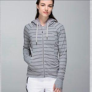 Lululemon Movement Jacket Cayman Stripe Gray